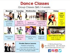 Learn to Dance! Best dance lessons Houston and Sugar Land. Ballroom, Latin, Country, Ballet Hip Hop and Wedding dance classes. Private and group Houston dance lessons and social dances. Adult and kids dance classes. Private Dance Lessons, Kids Dance Classes, Social Dance, Group Dance, Class Schedule, Best Dance, Learn To Dance, Latin Dance, Ballroom Dance