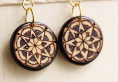 Quilted Star Earrings.