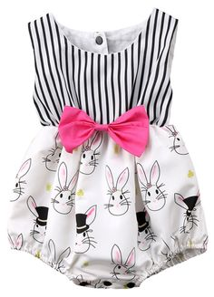 Carolilly Easter Baby Outfits Newborn Baby Girl Bunny Romper Sleeveless Jumpsuit with Bow Clothes Baby Girl Romper, Baby Girl Dresses, Baby Girl Newborn, Baby Girls, Toddler Girls, Infant Boys, Baby Baby, Kids Girls, Organic Baby Clothes