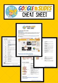 Google Slides Cheat Sheet for Teachers and Students #google #gafe