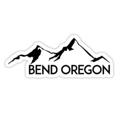 BEND OREGON Mountain Skiing Ski Snowboard Snowboarding • Also buy this artwork on stickers, apparel, home decor, and more.