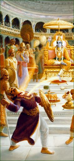 Lord Krishna Kills Sisupala