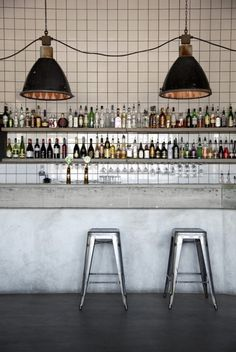 This industrial looking restaurant located outside of Stockholm, is designed by Rickard Lindvall who was inspired by old East European factories, hence the concrete, tiles and copper pipes. Be...