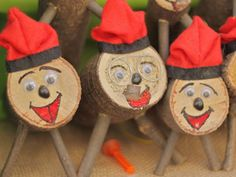 """Caga tiós, pooping logs that children beat with a stick during Christmastime. He """"poops"""" presents such as candy and turrones. A funny Catalan tradition."""