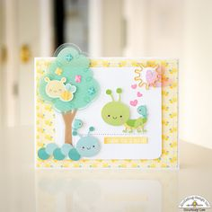Doodlebug Design Inc Blog: Spring Things Collection: Happy Cards - Thank You card by Courtney Lee