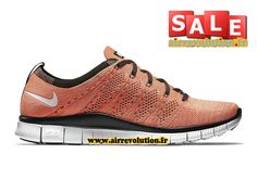 NIKE FREE FLYKNIT NSW 5.0 - CHAUSSURE DE NIKE SPORTSWEAR PAS CHER POUR  HOMME Lave piquant