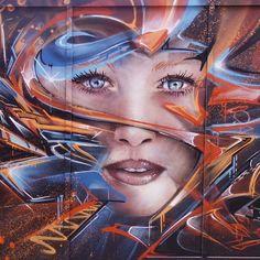 Street art in the East End of London 2015 Artist: Mr Shiz aka Olivier Roubieu Street Art Utopia, Street Art Graffiti, Street Art London, Urban Street Art, Illusion Art, Mural Art, Street Artists, Female Art, Art Girl
