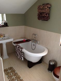 Roll Top Bath  Victorian Terrace Wall Colour Dulux Overtly Olive Captivating Bath Bathroom Review