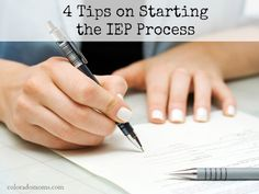 4 Tips on Starting the IEP Process