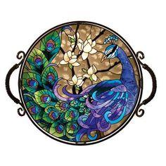 Peacock Glass Tray