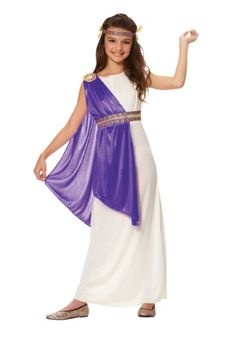 Rome hasn't fallen yet! Prepare for the toga party with this adorable Girls Purple Roman Empress Costume!