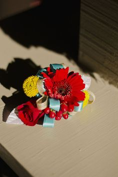 Turquoise, Red, Yellow And Burlap Wedding Inspiration