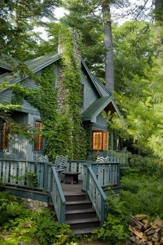bluepueblo:  Forest House, South Casco, Maine photo via alexis