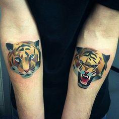 Geometric Tiger Tattoo \x3cb\x3egeometric tiger\x3c/b\x3e on pinterest ...
