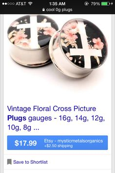 Found on google images- floral plugs w/ cross