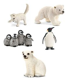 Another great find on #zulily! Arctic Animal Figurine Set by Schleich #zulilyfinds