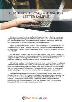 Motivation letter writing service