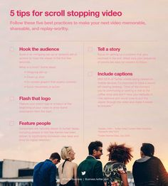 5 data-driven tips for scroll stopping video Twitter Tips, Twitter Video, Twitter Manager, Social Media Landscape, Media Web, Social Business, Business Management, Content Marketing, Media Marketing
