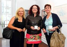 Studio artist Denise McAuliffe with Breda Keoghan and Tracy O'Connor www.noelbrownephotographer.com — at Garter Lane Arts Centre.