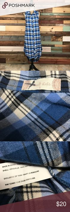 "Altar'd State Cotton Blue Plaid Flannel Tunic S Altar'd State Cotton Blue Plaid Flannel Tunic S // Bust: 18"" // Waist: 18"" laying flat // Length: 40-47"" // Bundle your likes and make an offer for best deals @woodsnap! Altar'd State Tops Tunics"