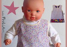 Robe trapèze, chasuble Bébé ☺Happy☺ 6/24 mois, robe tendance et moderne fabriquée en France : Mode Bébé par lulu-proliam