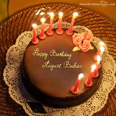 The Name August Babies Is Generated On Happy Birthday Images Download Or Share