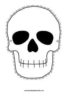 Skull Template For Kids Halloween skull mask printable Halloween Masks Kids, Halloween Skull Mask, Printable Halloween Masks, Printable Masks, Halloween Clipart, Halloween Crafts, Halloween Templates, Halloween Stencils, Halloween Carnival
