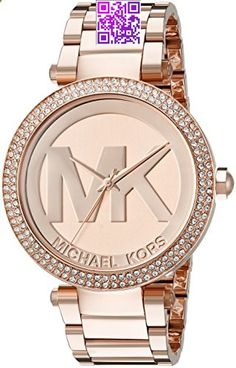Great gift idea Michael Kors Womens Parker Rose Gold-Tone Watch MK5865