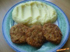 placičky z mletého masa,cukety a ovesných vloček