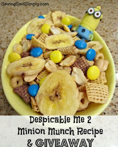 Despicable Me 2 Minion Munch Chex Mix Recipe + GIVEAWAY! - Saving Said Simply