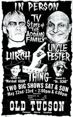 Horror Host Dr. Scar personal appearance with Lurch and Uncle Fester