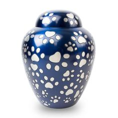 Find the right solution for your loved one with our Paws of Love Pet Urn - Blue. Hand Carved, Hand Painted, Pet Urns, Love Pet, Pet Memorials, Blue Satin, Carving, Bronze, Body Weight
