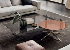 Mondrian Coffee Table by Poliform Cool Coffee Tables, Decorating Coffee Tables, Coffee Table Design, Round Coffee Table, Modern Coffee Tables, Coffee Set, Mondrian, Luxury Furniture, Furniture Design