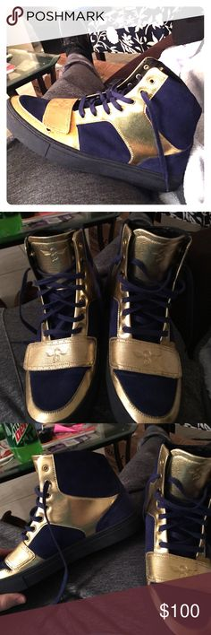 Creative recreation high tops blue suede/gold Had for a year only worn 3 times impeccable condition. Shoes Sneakers