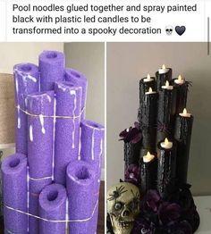Casa Halloween, Halloween Candles, Outdoor Halloween, Halloween 2020, Holidays Halloween, Halloween Treats, Happy Halloween, Halloween Party Ideas For Adults, Pool Noodle Halloween