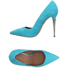 Le Silla Court ($450) ❤ liked on Polyvore featuring shoes, pumps, turquoise, real leather shoes, animal shoes, genuine leather shoes, le silla shoes and leather pumps