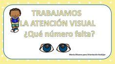 Actividades para trabajar la atención visual en la que nuestros alumnos deben de señalar el numero que falta de la serie del 1 al 20.  DESCARGA LA FICHA EN …
