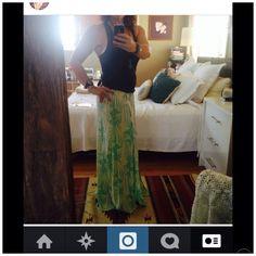 Tigerlily skirt, lululemon singlet, just add a cropped denim jacket