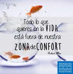 Regresamos y con fuerza ¡Salgamos de nuestra zona de confort! #SiemprePositivos http://mensajespositivosparati.com/
