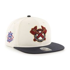 Atlanta Braves MLB '47 Brand Snapback Hat Cap - Flat Brim - Sure Shot #47Brand #AtlantaBraves