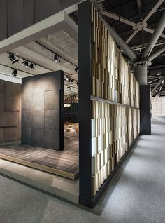 750 sqm of tiles exhibition and services for Kale, design by Paolo Cesaretti