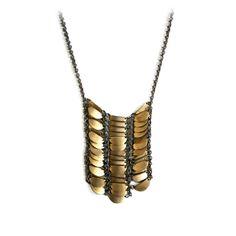 Mida Necklace by Laura Lombardi Jewelry. I love love love this necklace! Jewelry Art, Jewelry Accessories, Fashion Accessories, Jewelry Necklaces, Jewelry Design, Fashion Jewelry, Boho Necklace, Brass Necklace, Brass Jewelry