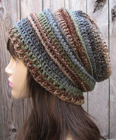 perfect slouchy hat crochet pattern for sale on artfire by evasstudio