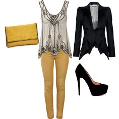 yellow, created by mary-yatrousis on Polyvore