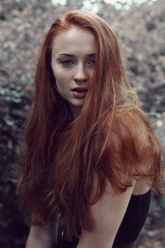Sophie Turner #redhead #ginger // Sansa Stark // Game of thrones - that is what sansa stark looks like on proper 'drugs'. would love to see that look on her in the tv series.