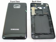 Samsung Galaxy S 2 II i9100 ~ Black Middle Frame Housing + Back Cover Door Case Panel ~ Mobile Phone Repair Parts Replacement by Samsung. $14.70
