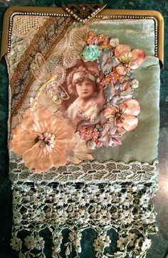 I ❤ crazy quilting, beading & ribbon embroidery . . . Purse for Jan O, 2 ~By Pat Winter