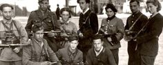 Vitka Kempner (far right), heroic leader of the Jewish resistance during WWII and wife of legendary hero Abba Kovner