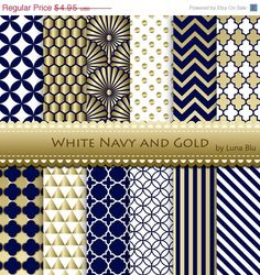 Hey, I found this really awesome Etsy listing at https://www.etsy.com/listing/200465291/60-off-navy-and-gold-digital-paper-white
