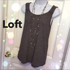 Loft Striped Top Super cute skinny striped Loft tank top(: LOFT Tops Tank Tops